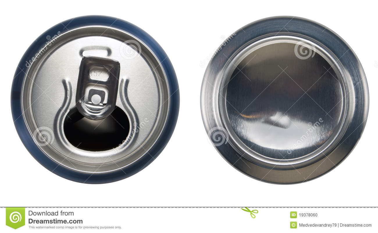 Blue Aluminium Open Can And Bottom Can Stock Photo Image 19378060