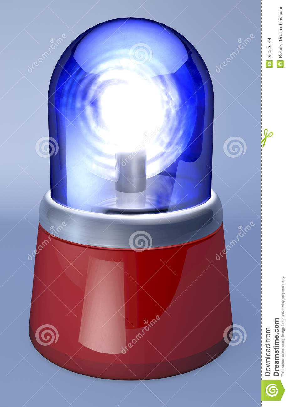 Blue Ambulance Light Stock Images Image 35053244