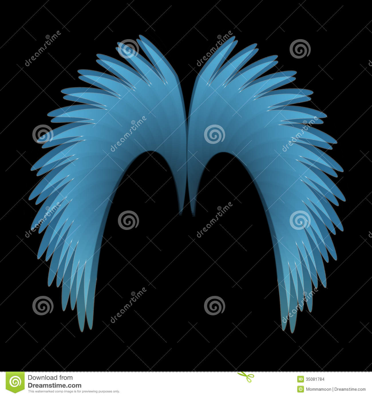 angel wings black background - photo #19