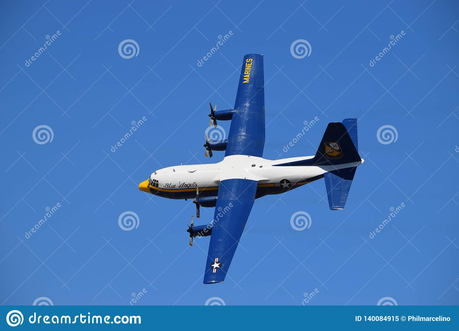 Blue Angels Fat Albert Performing A Flyby Editorial Image - Image of