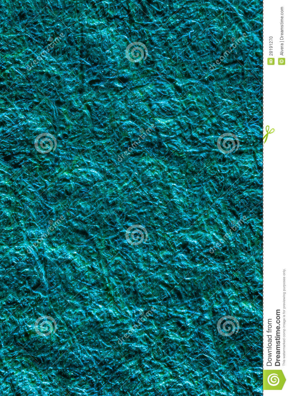 Blue Aqua Shiny Plastic Fiber Background Texture Stock