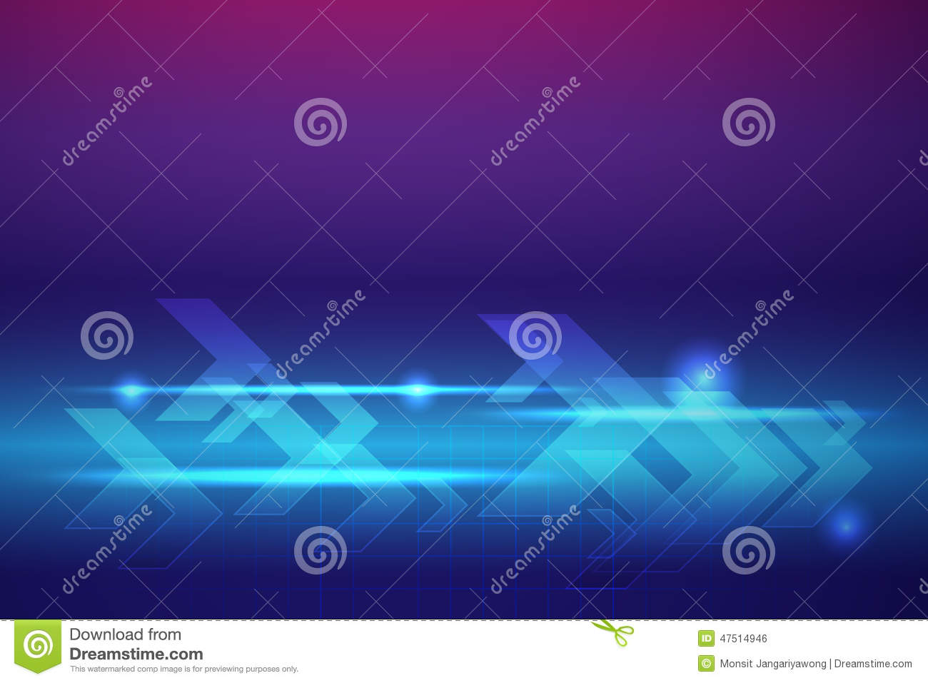 Blue arrows abstract vector background