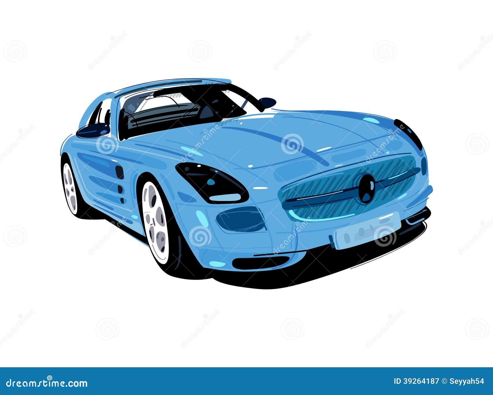Blue Artistic Auto Stock Illustration Illustration Of Life 39264187