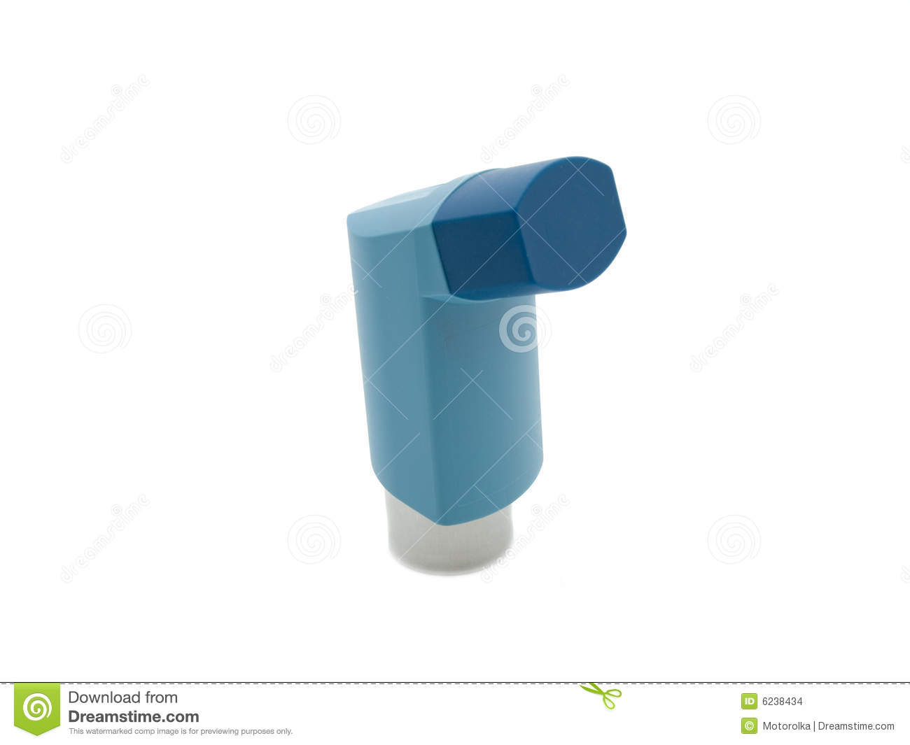 Blue Asthma Inhaler Stock Images - Image: 6238434