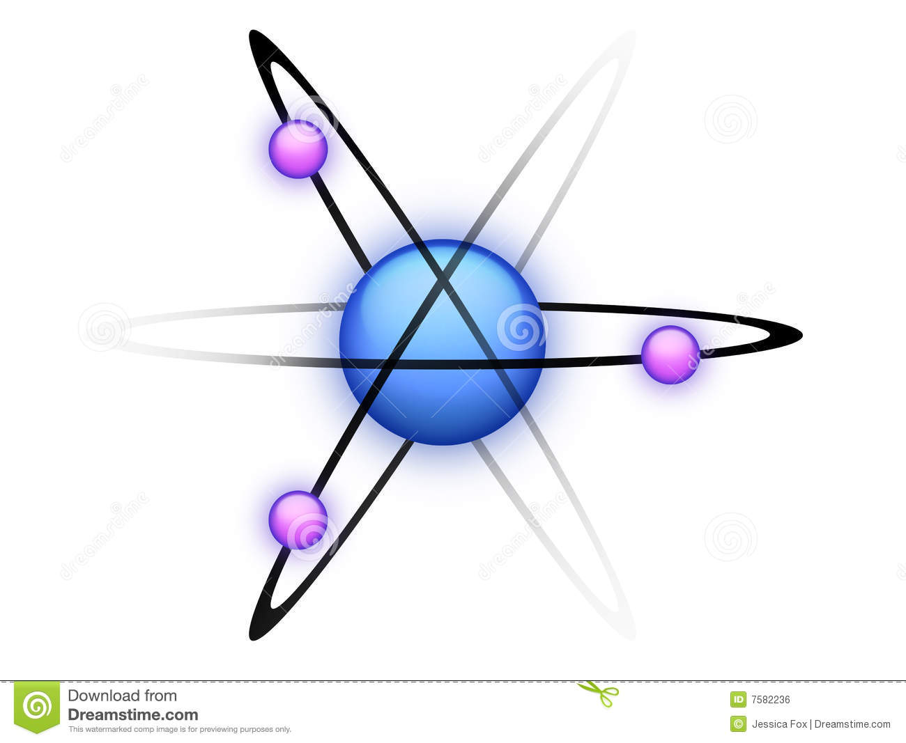 Blue Atom Royalty Free Stock Image Image 7582236