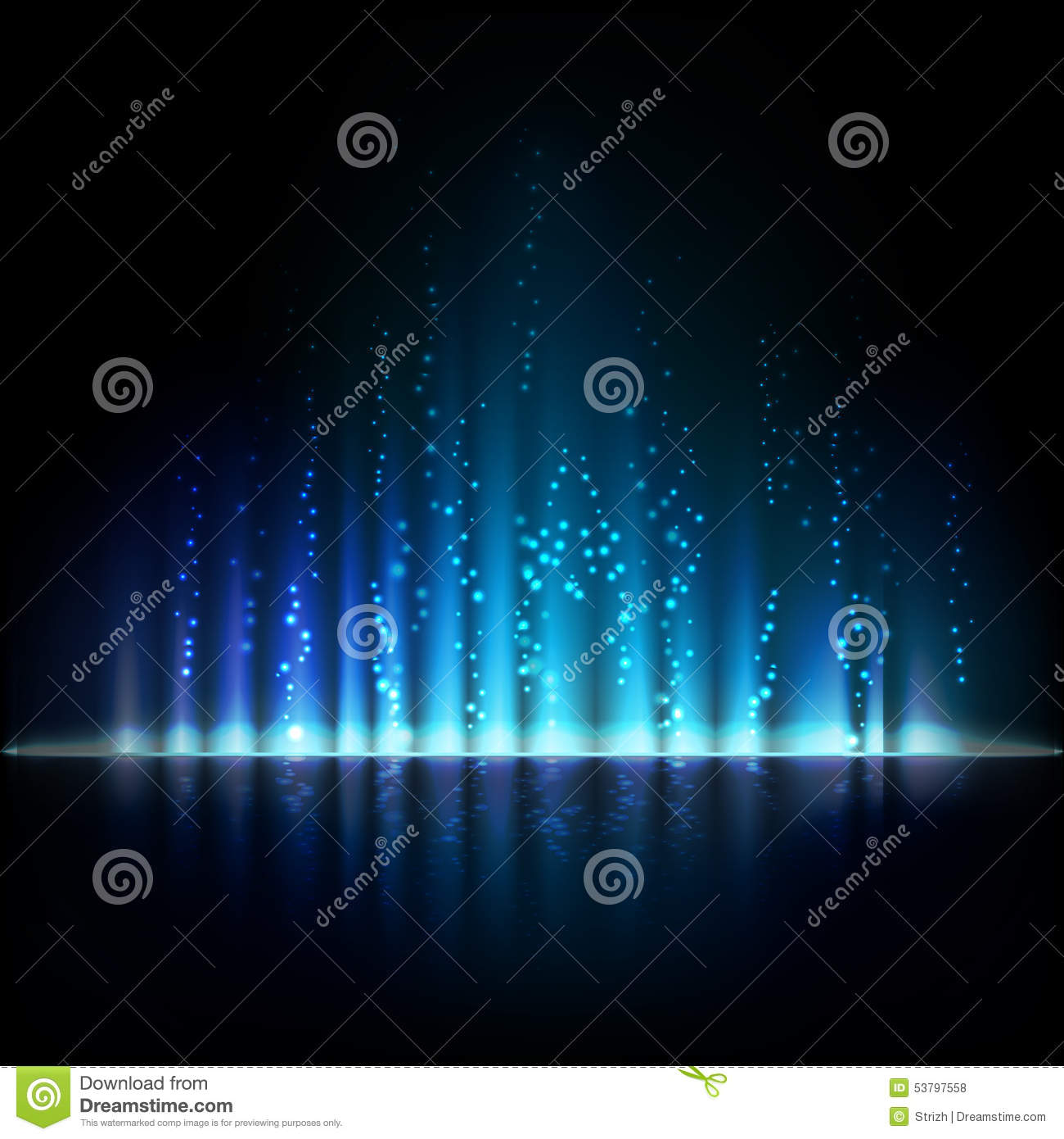 Blue aurora light. Abstract vector backgrounds