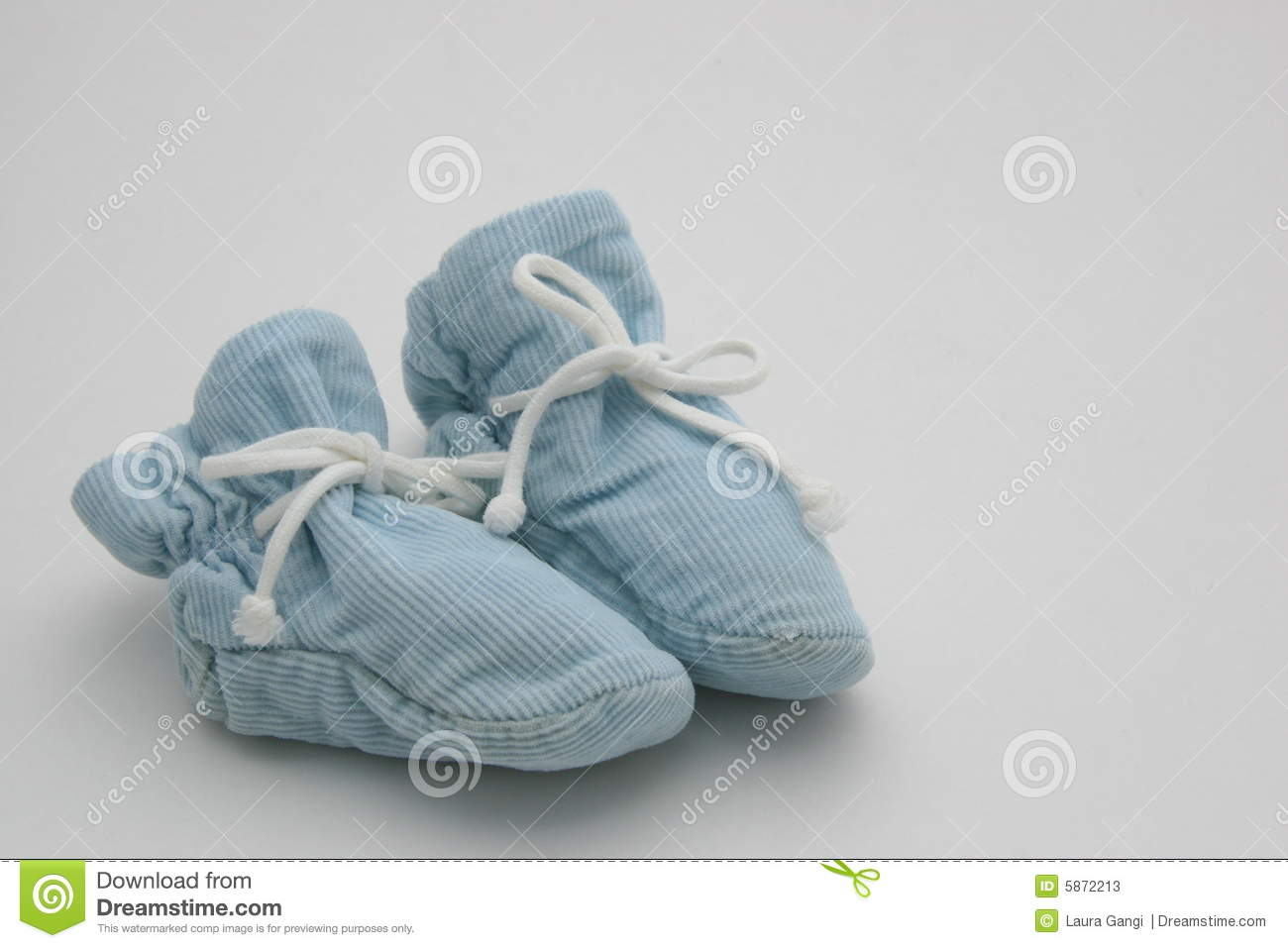 Blue Baby Booties stock image. Image of
