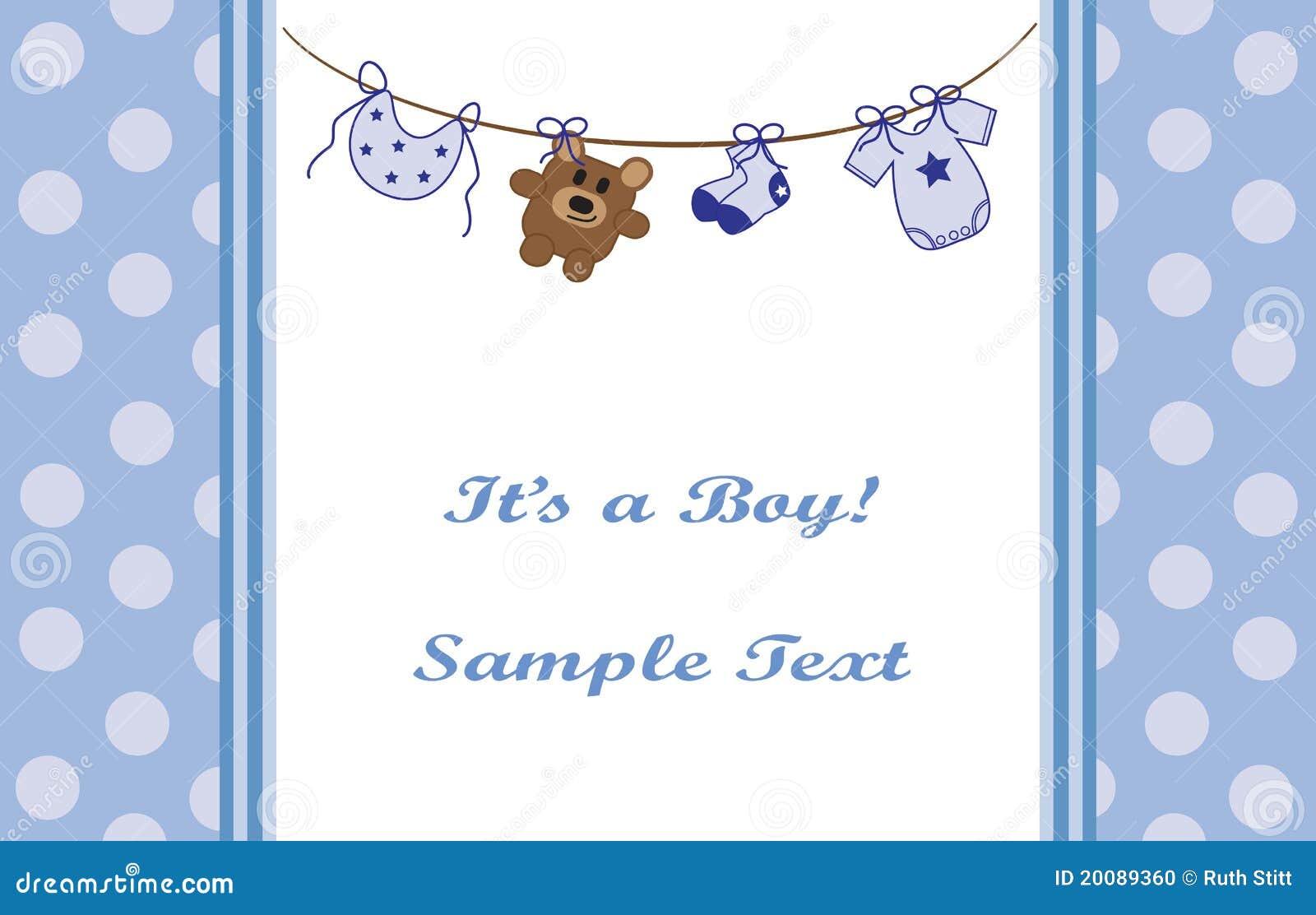 Blue Baby Boy Announcement Photo Image 20089360 – Cute Baby Boy Announcements