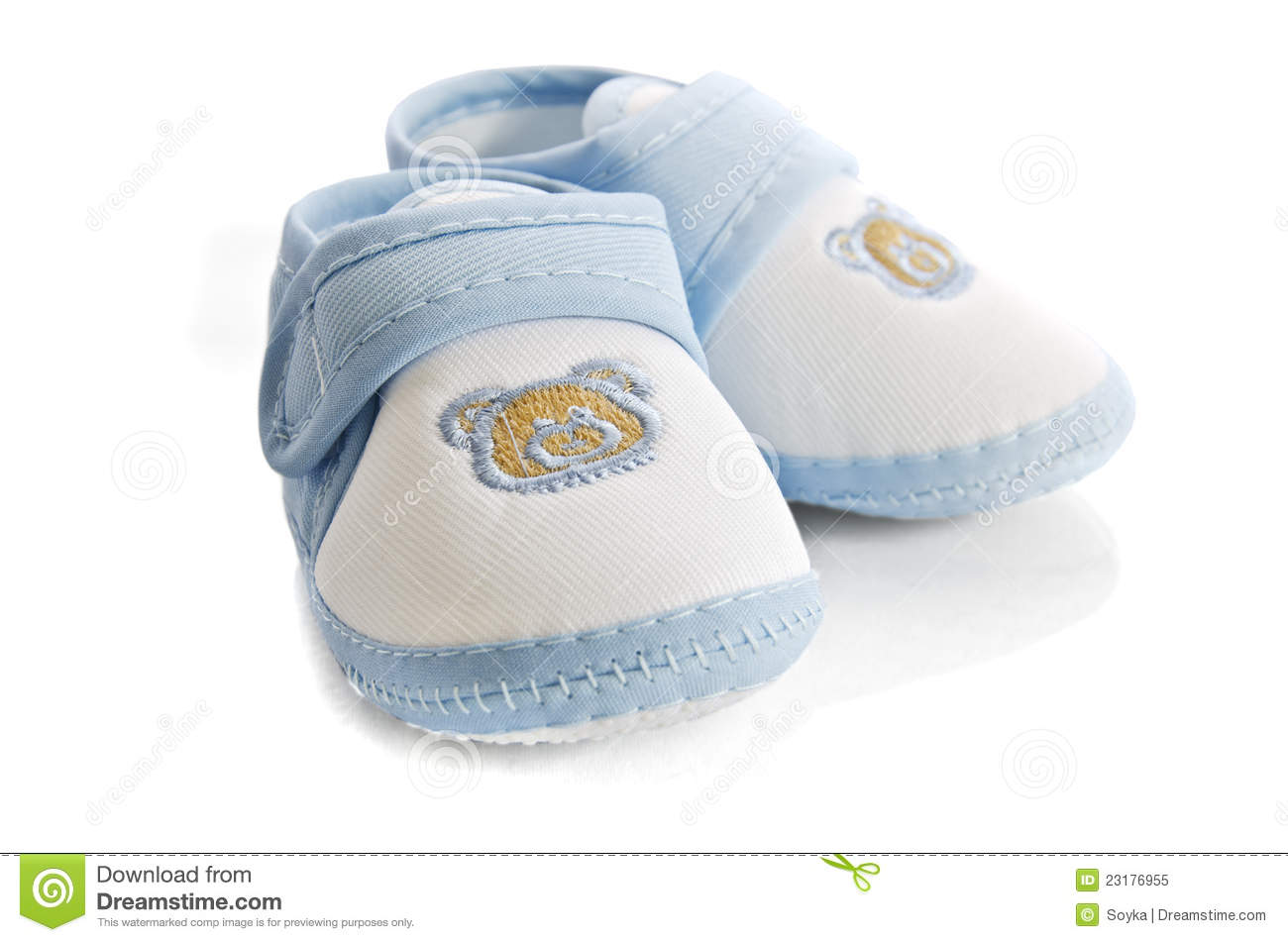 Blue Baby Boy Shoes Isolated On White