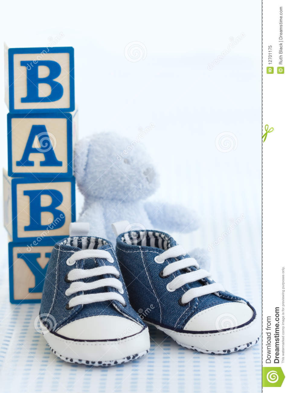 Blue Baby Shoes Royalty Free Stock Photo Image 12701175
