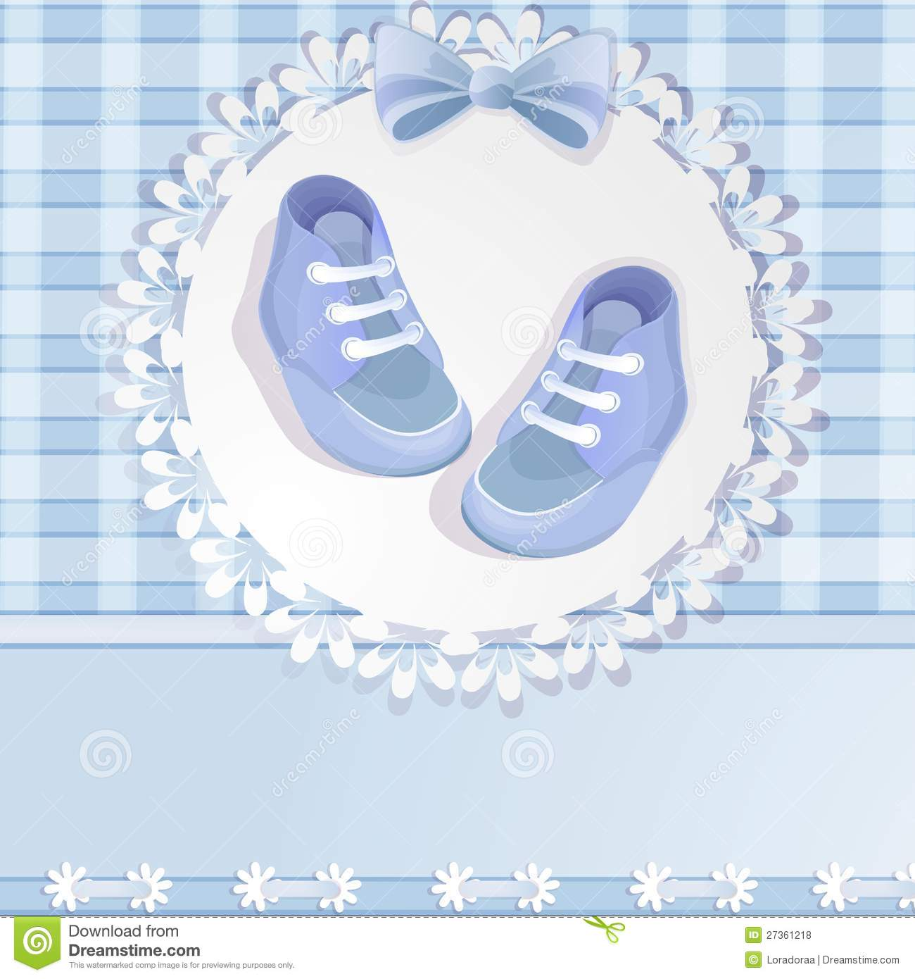 blue baby shower card royalty free stock photos