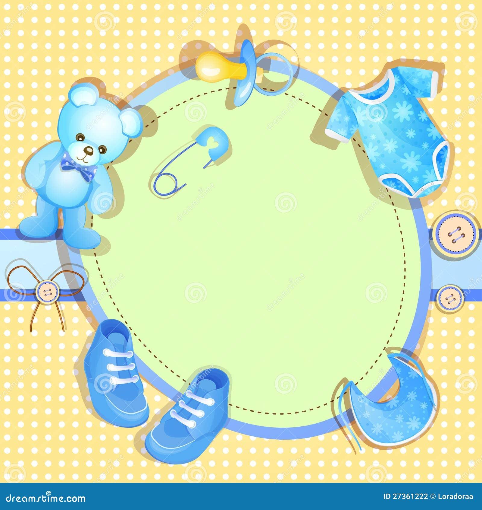 blue baby shower card stock illustration  illustration of