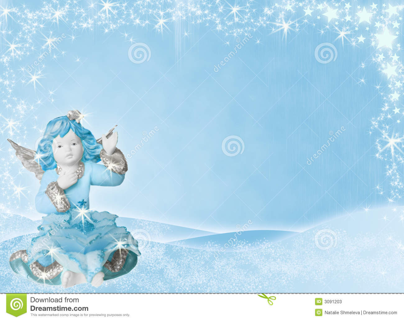 Blue Background With Angel Stock Photos - Image: 3091203