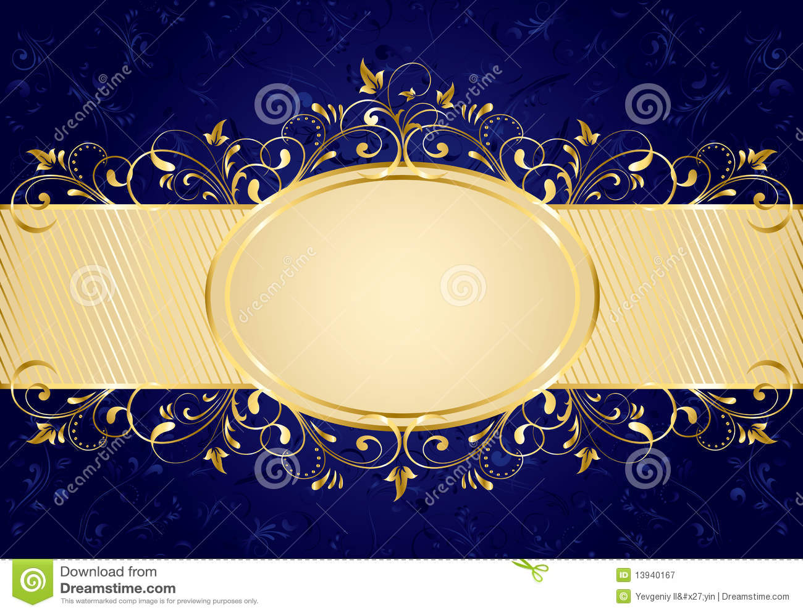 El Dorado Blue Card >> Blue Background With Golden Frame Stock Vector - Illustration of modern, frame: 13940167