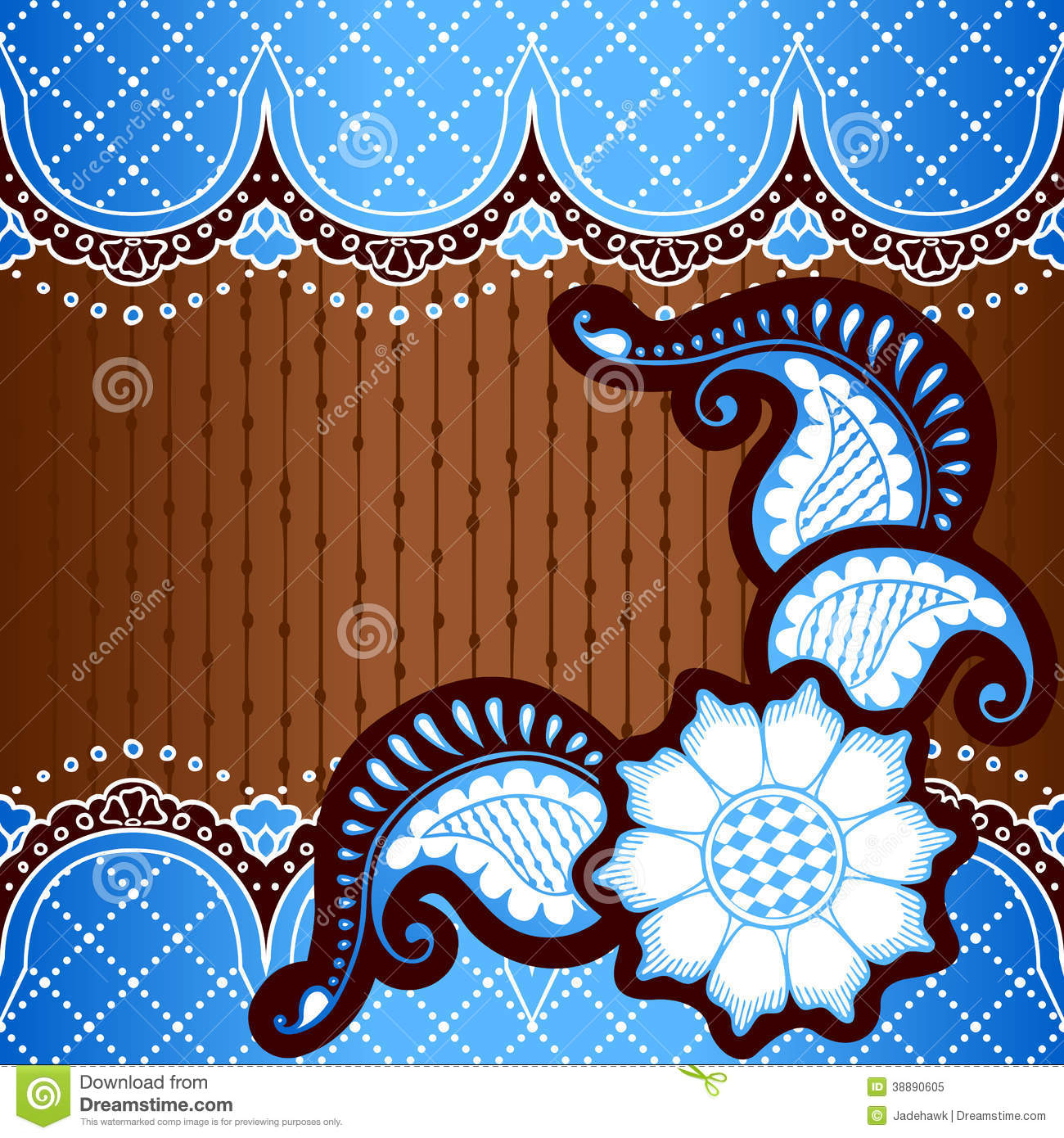Ornate vintage vector background in mehndi style royalty free stock - Royalty Free Stock Photo Background Banner Blue Brown Designs Henna Indian Mehndi