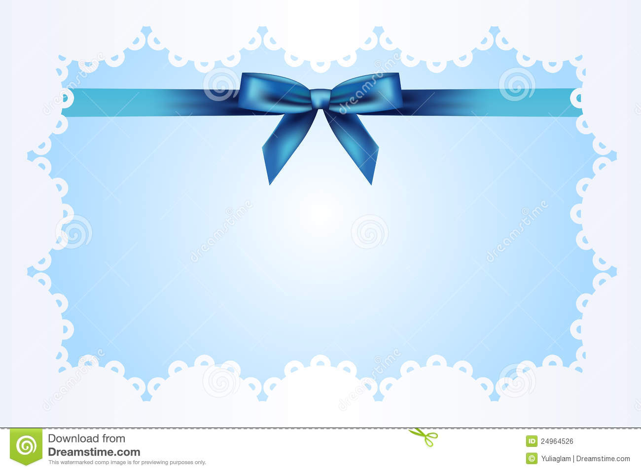 Blue Background With Ribbon Royalty Free Stock Image - Image: 24964526