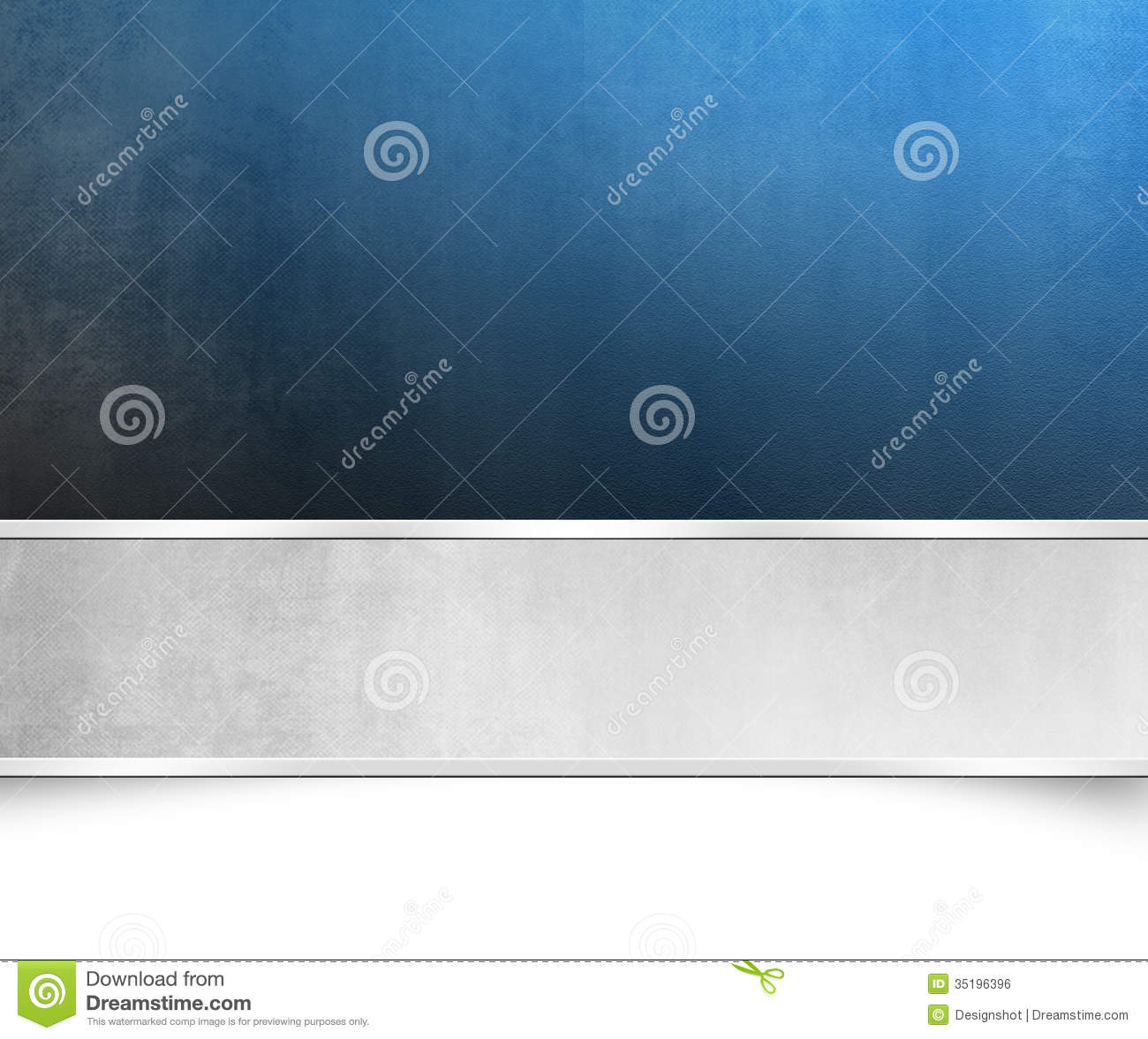 Blue Background Texture With Silver Banner