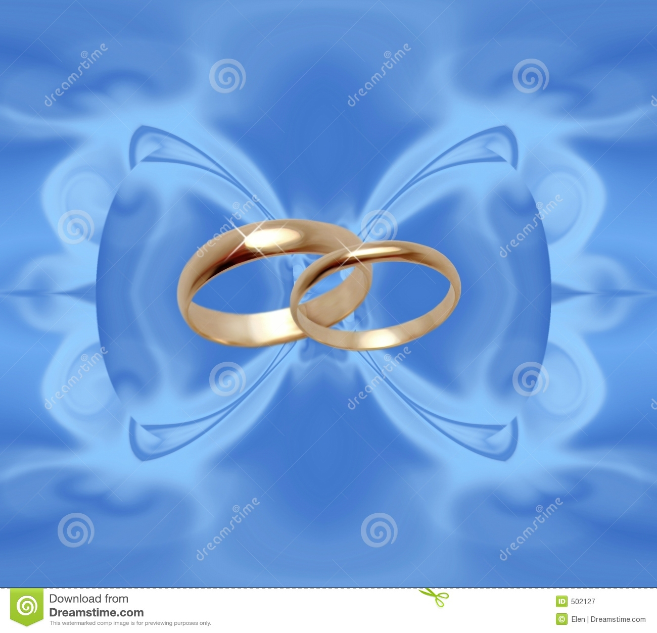 Blue Background With Wedding Rings Royalty Free Stock ...