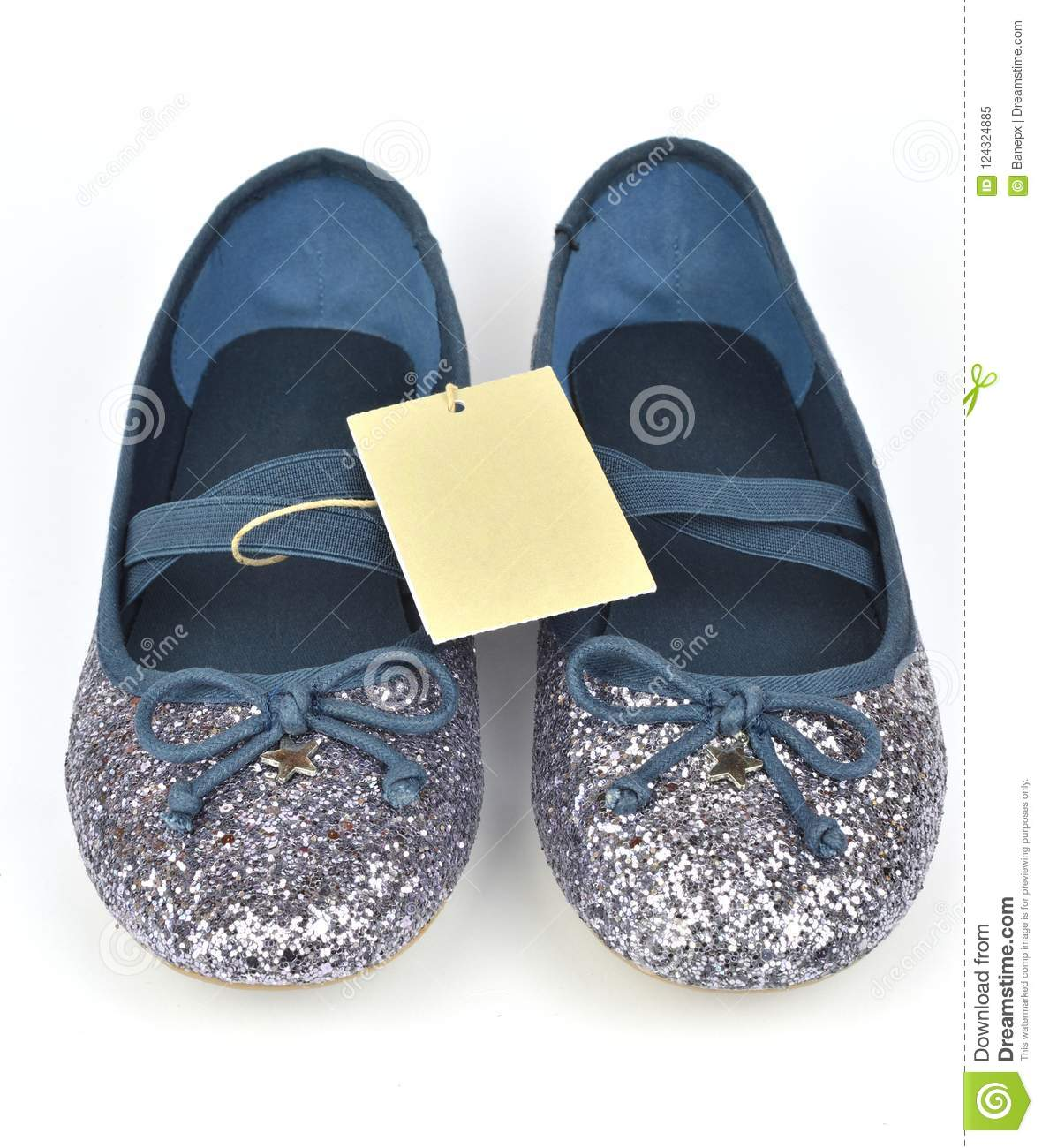 coupon codes cheapest los angeles Blue Ballerinas With A Price Tag Stock Image - Image of shiny ...