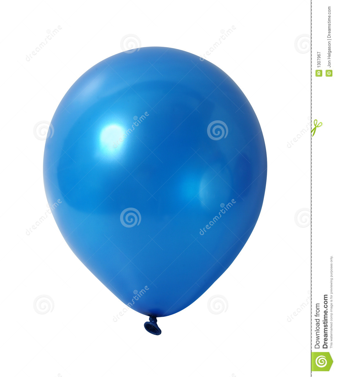 Plan Drawing Online Blue Balloon With Path Royalty Free Stock Photography