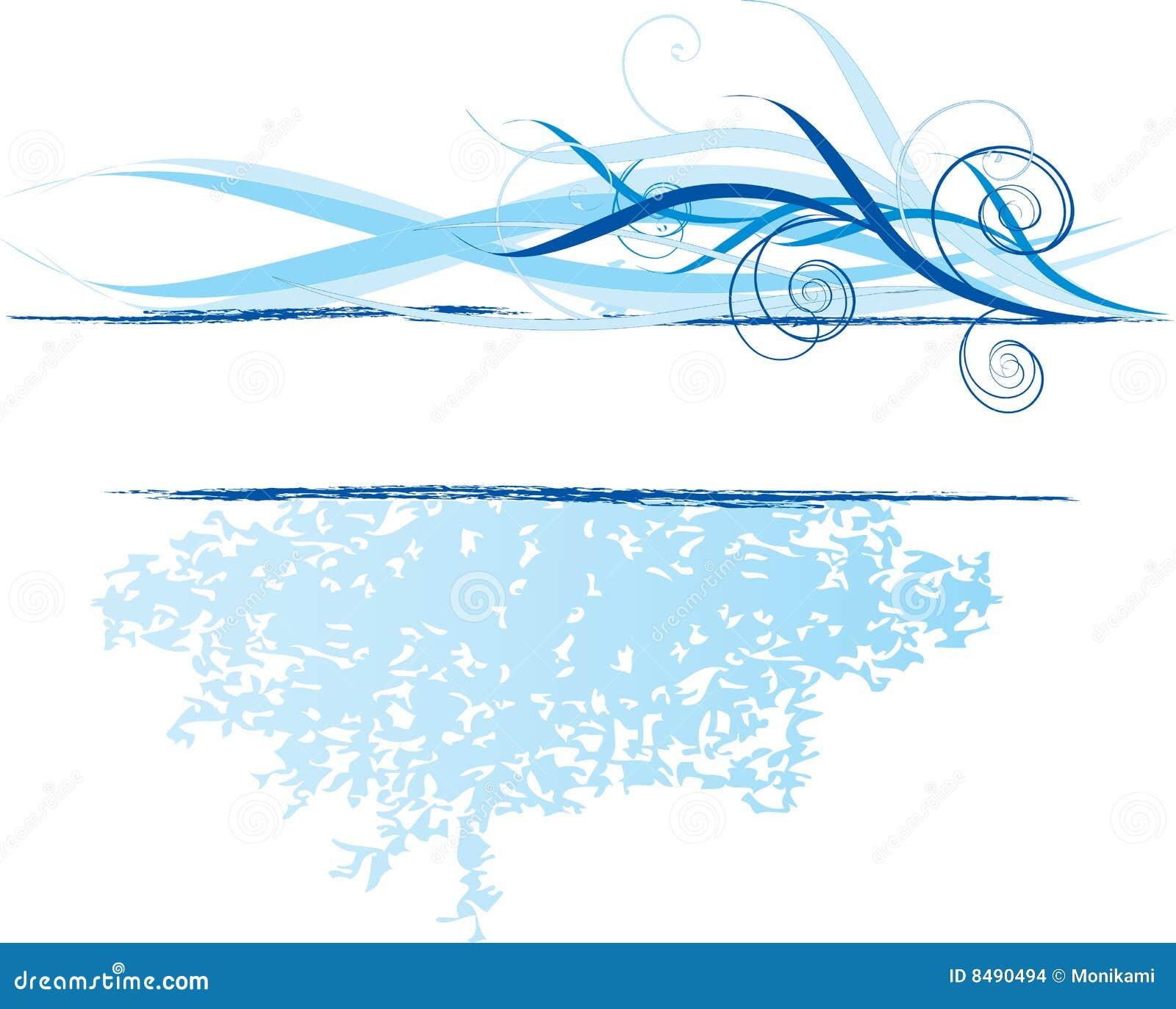blue banner design element stock vector illustration of sample