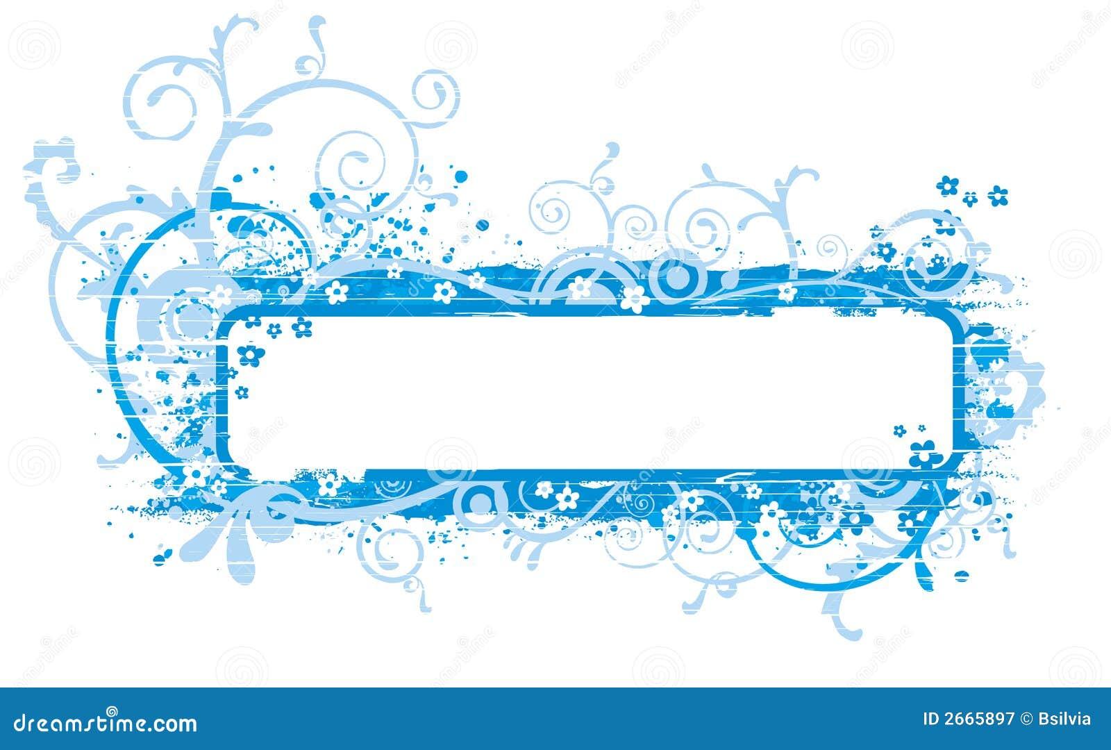 Blue Banner Illustration Royalty Free Stock Images - Image: 3700279