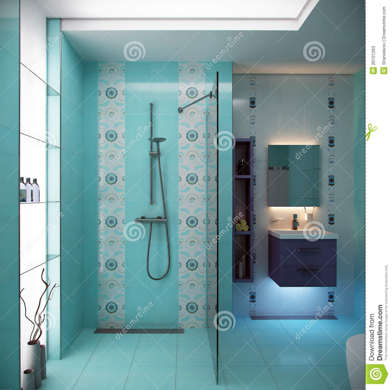 Tiffany blue bathroom designs - Amazing Blue Bathroom Scene Stock Photos Image With Blue Bathroom