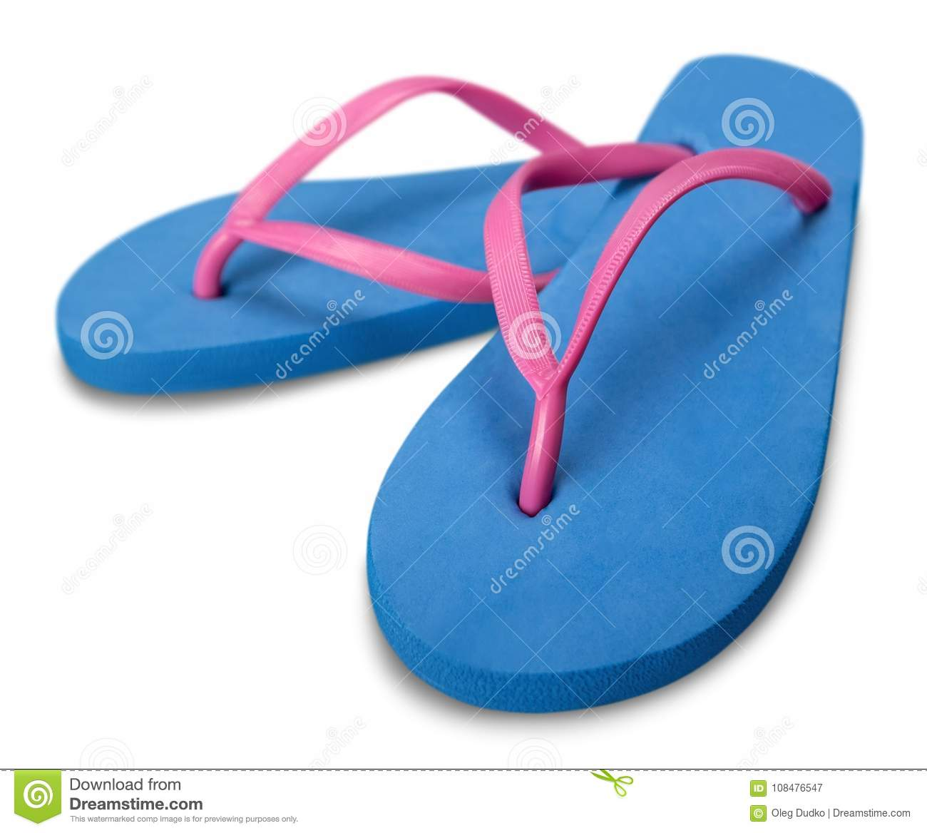 3d4a3886775 Blue Beach Rubber Sandals Flip Flops Isolated On Stock Image - Image ...