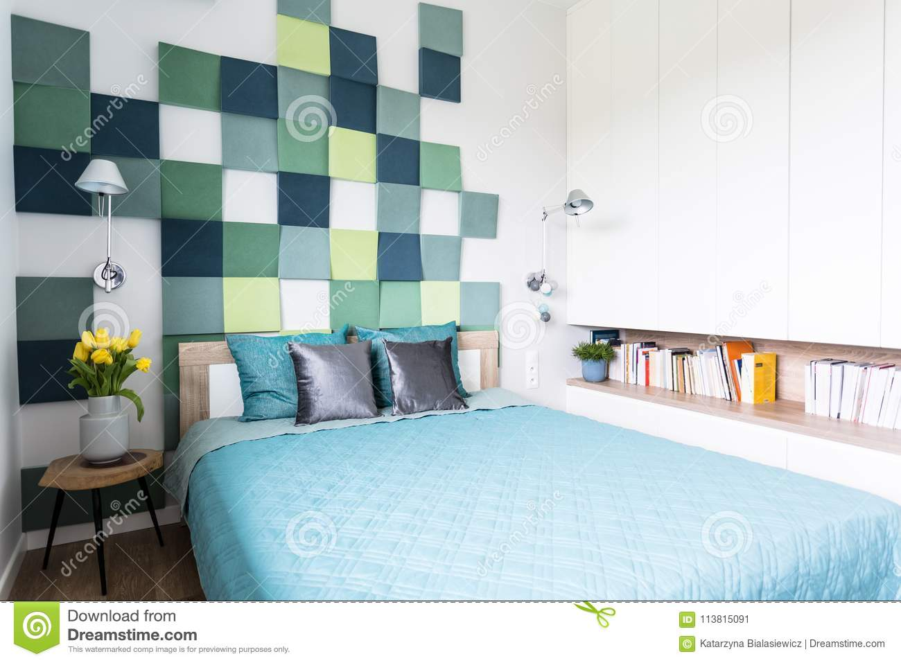 3 444 Bedroom Blue Green Photos Free Royalty Free Stock Photos From Dreamstime