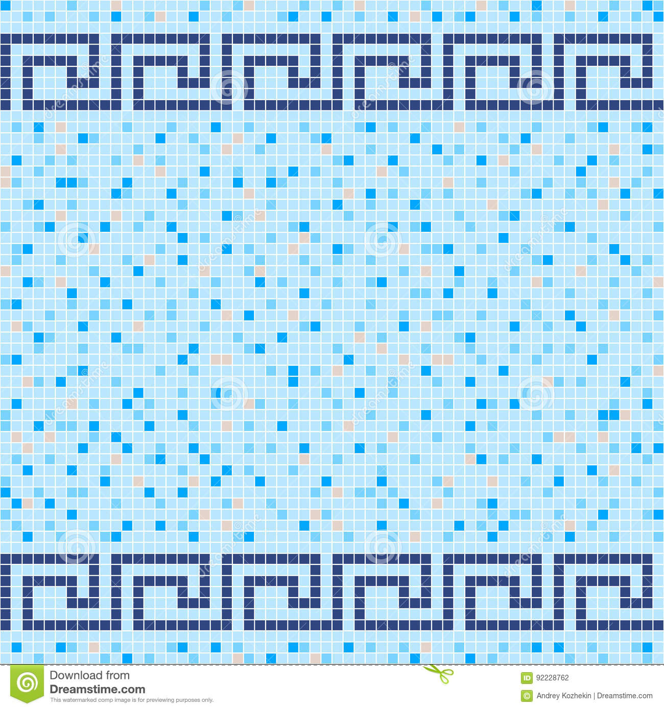 Blue and beige ceramic tile mosaic pattern stock vector blue and beige ceramic tile mosaic pattern dailygadgetfo Images
