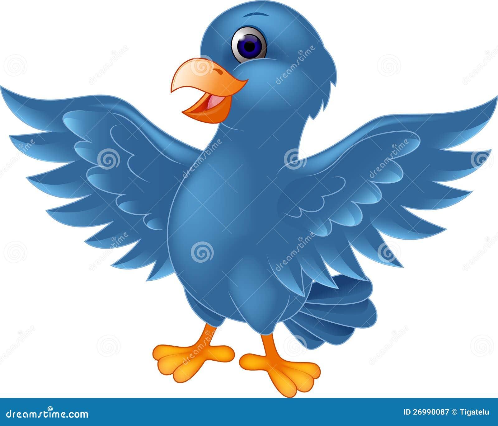 Blue bird cartoon
