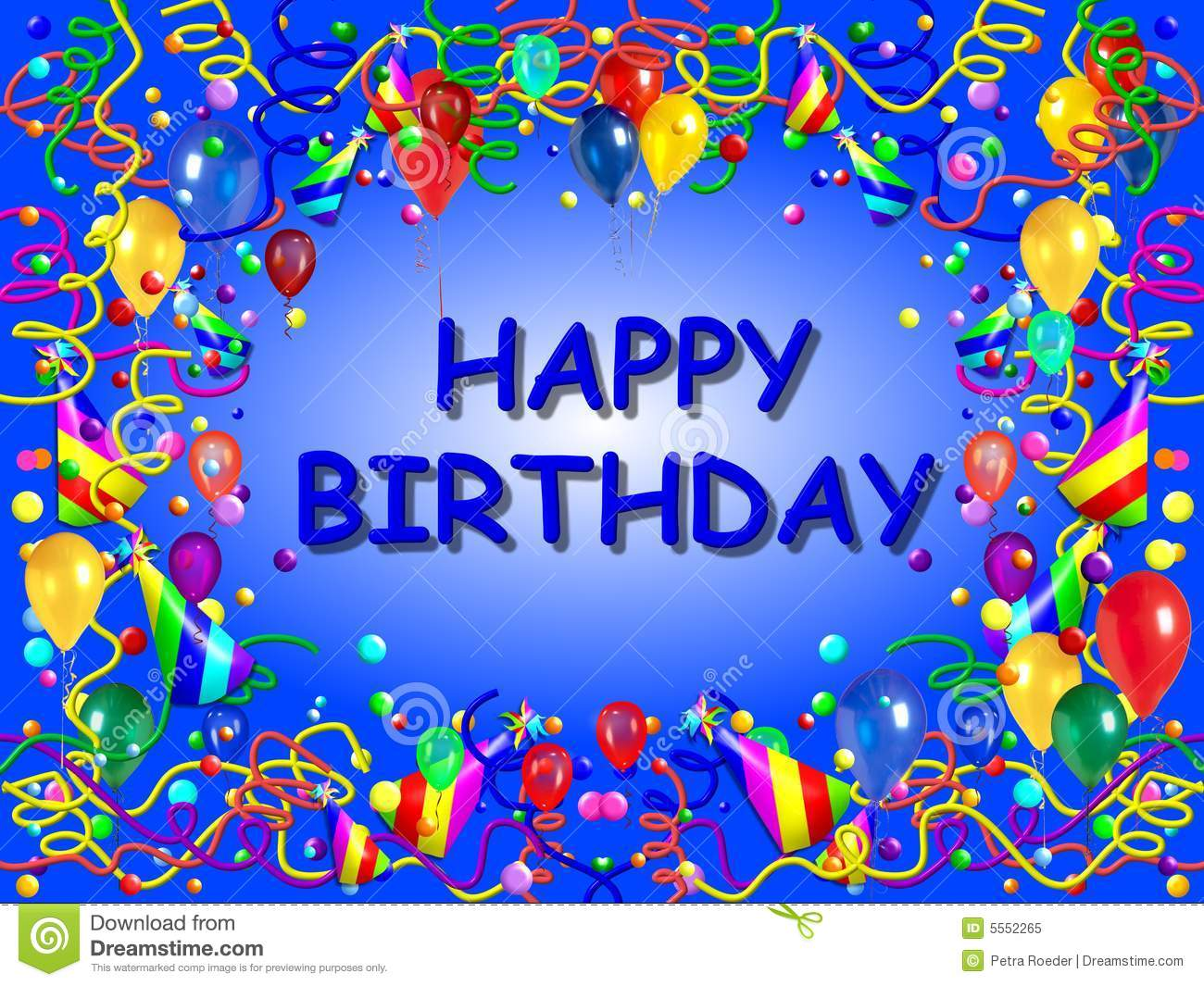 Bday background images - Blue Birthday Background Royalty Free Stock Photo