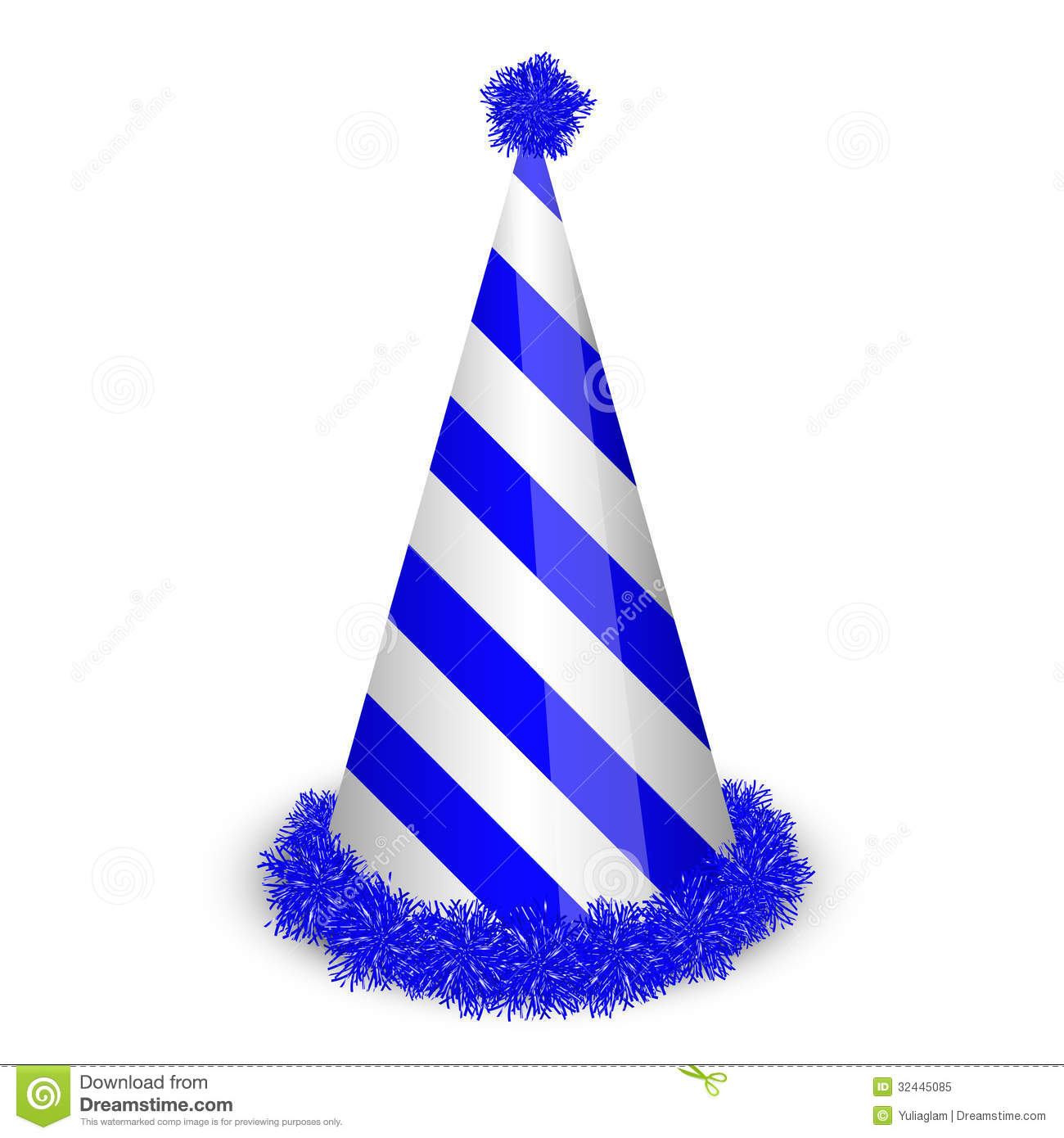 Blue Birthday Cap Royalty Free Stock Photo - Image: 32445085