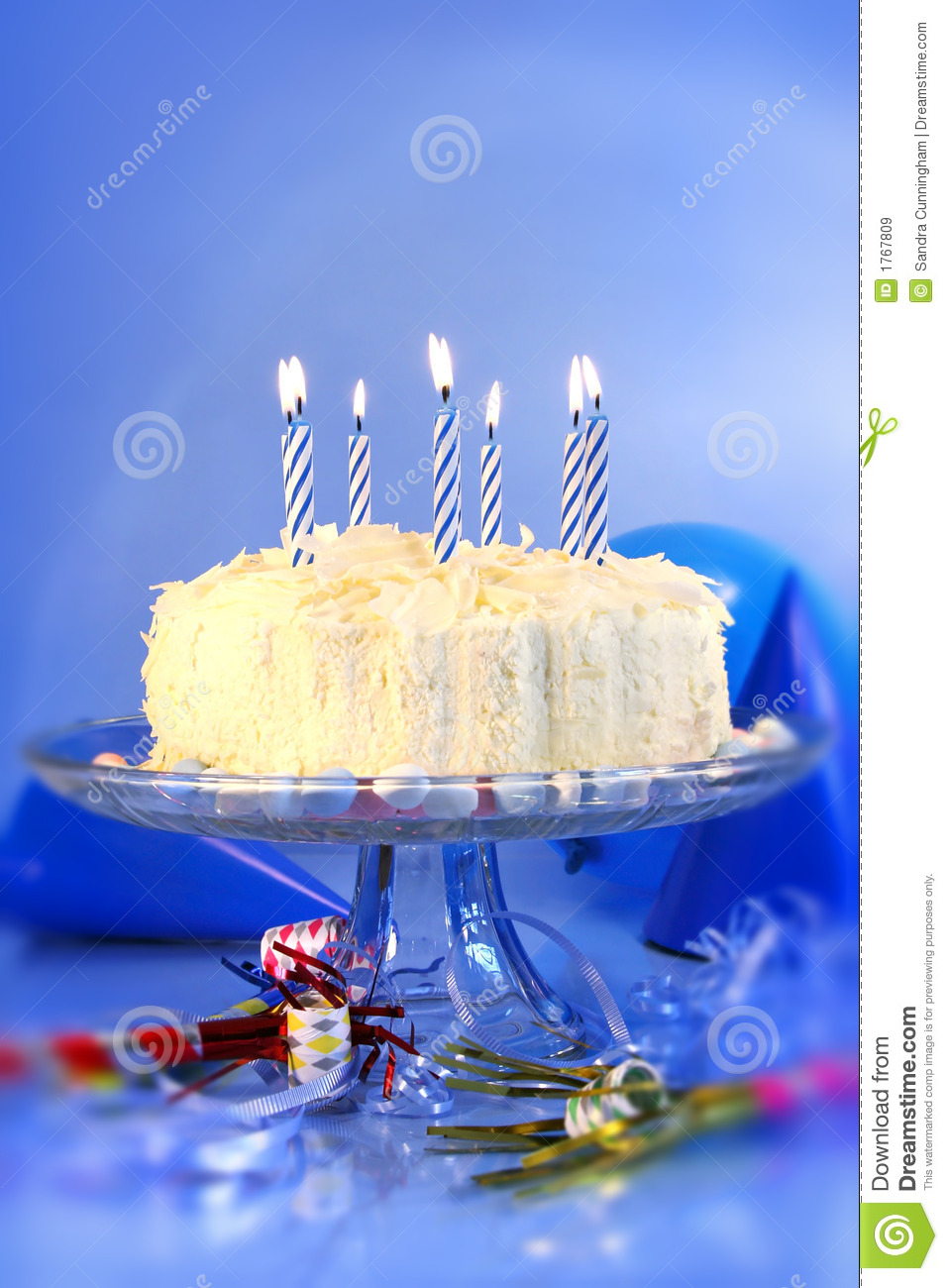 Blue Birthday Celebrations Royalty Free Stock Images