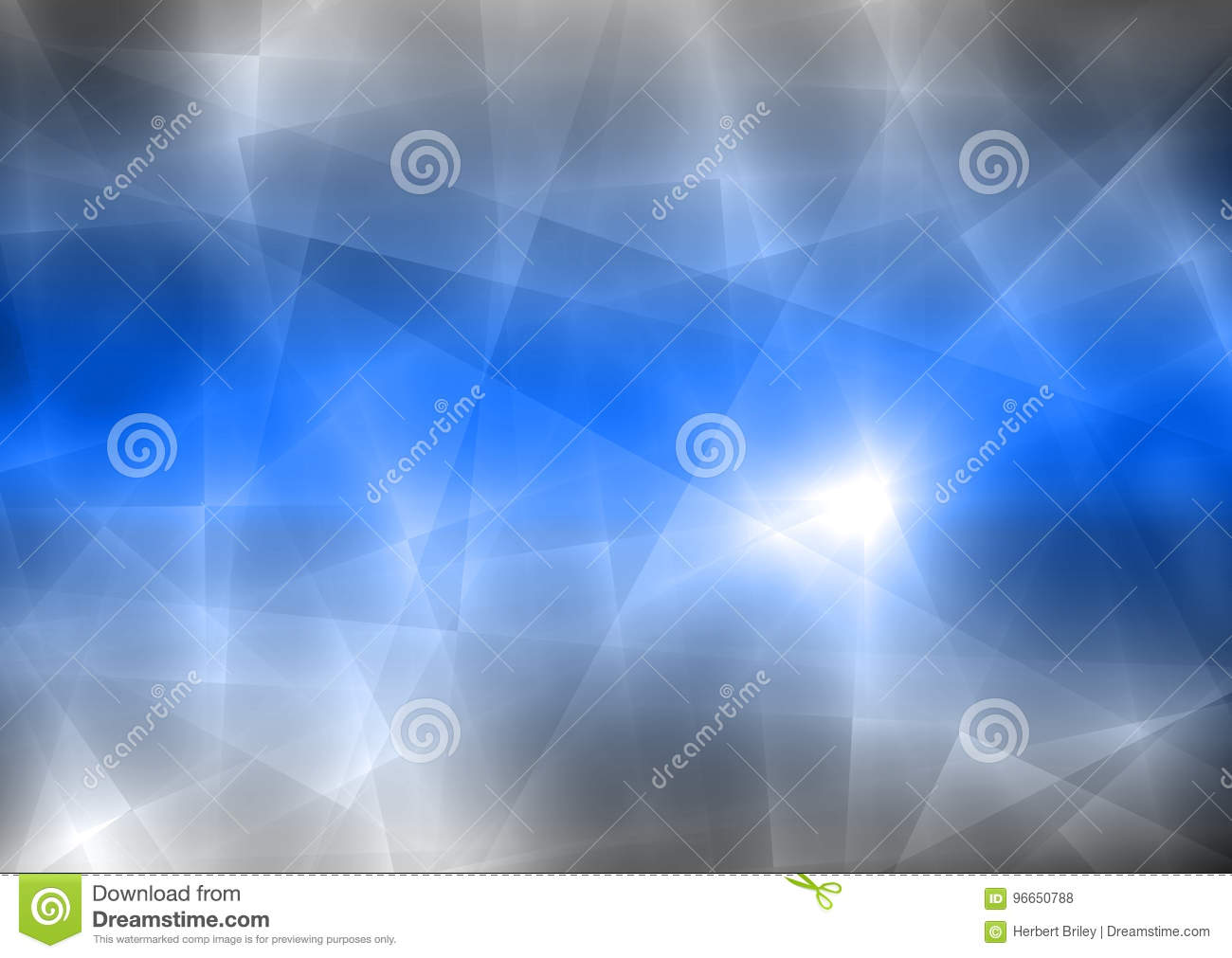 Blue and Black Abstract Transparent Background