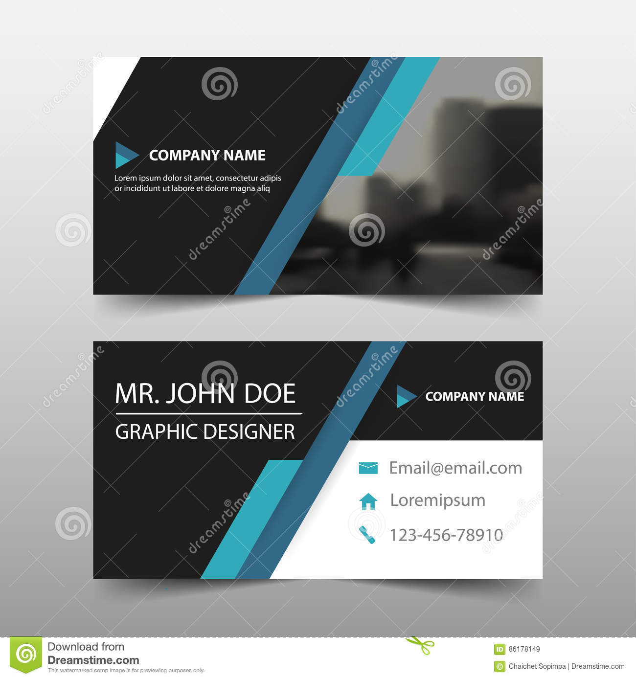 blue black corporate business card name card template
