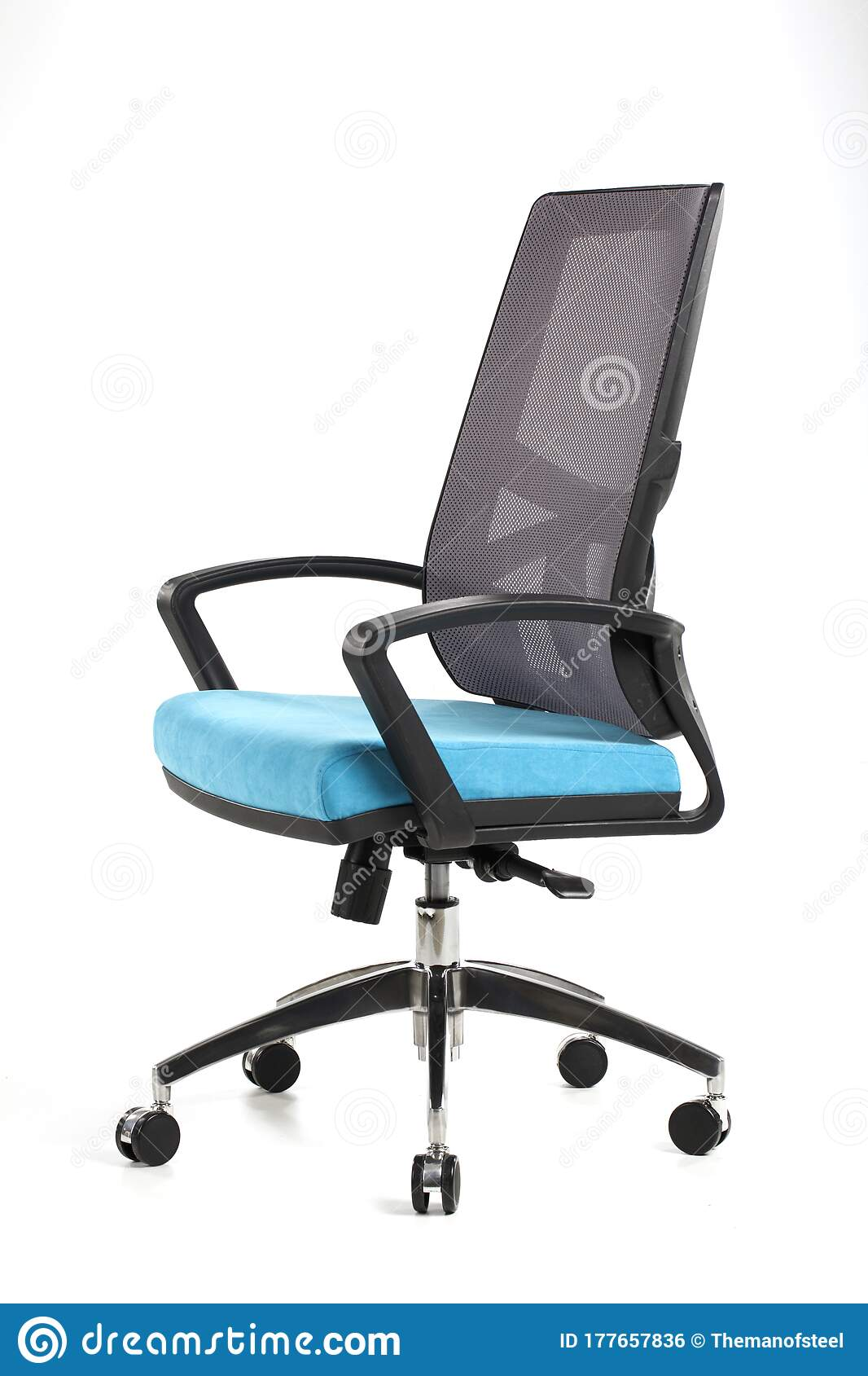 Picture of: Blue And Black Office Chair Stock Photo Image Of Blue Elegance 177657836