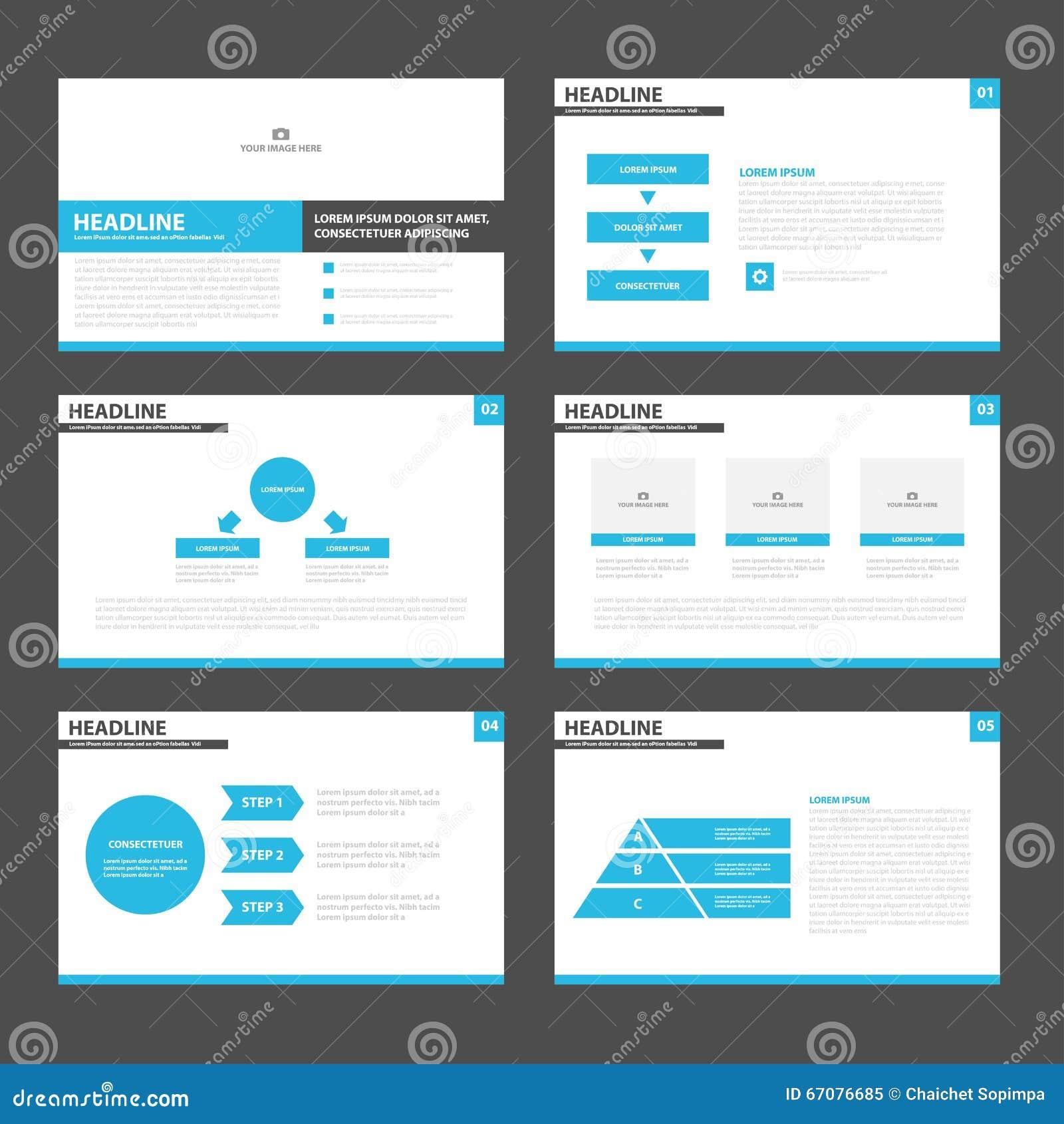 Blue Black Presentation Layout Templates Infographic Elements Flat ...