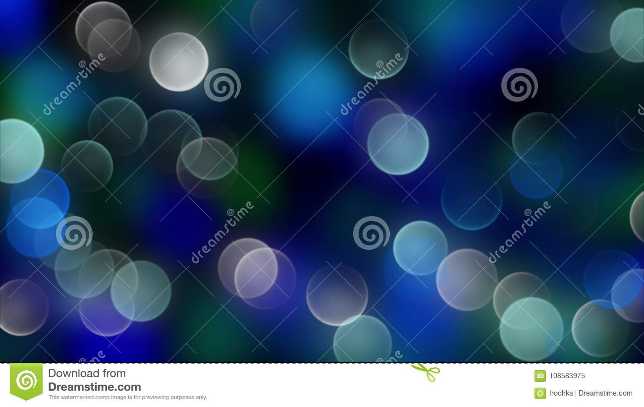 Blue bokeh background created by neon lights.