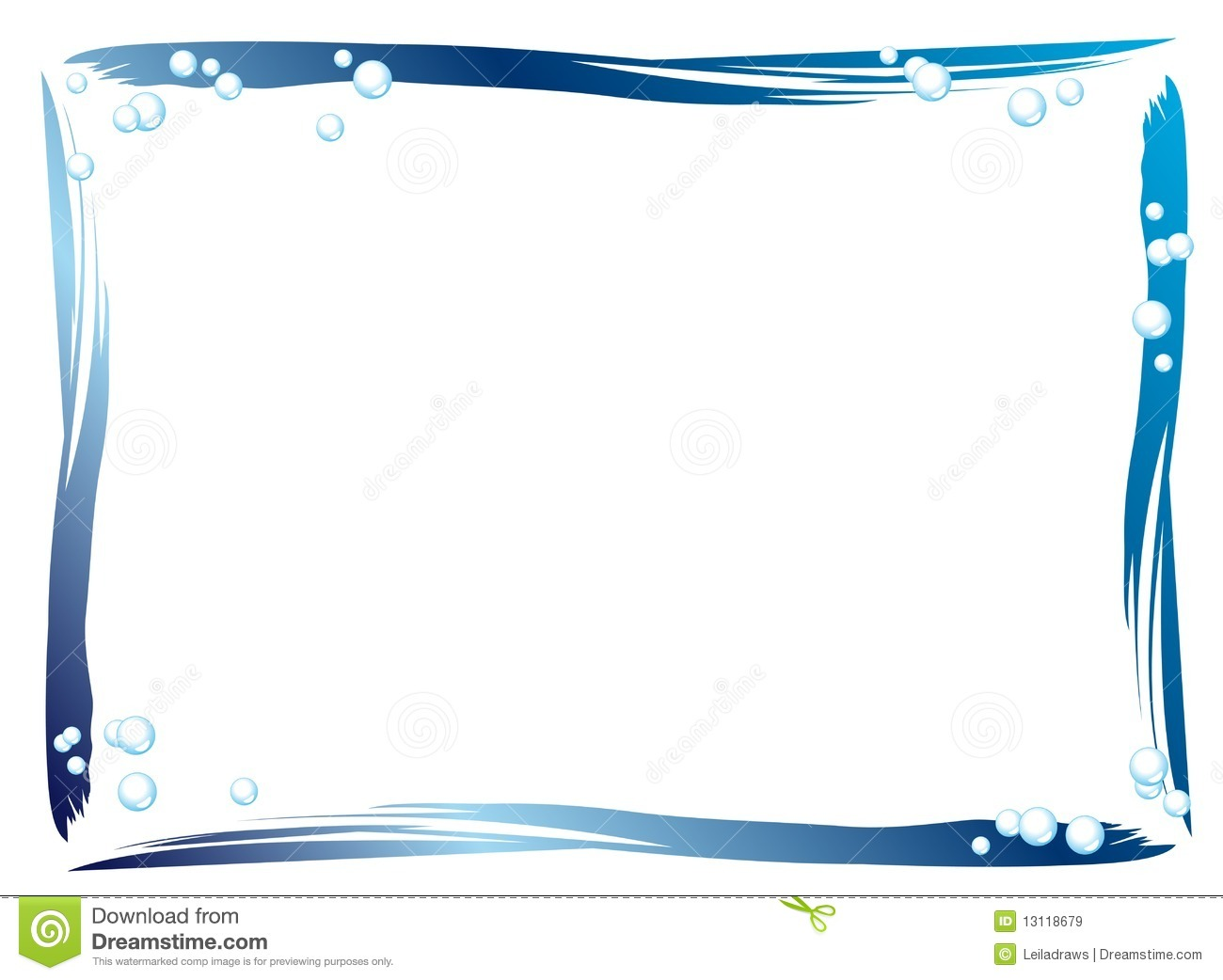 Blue Border Stock Vector Illustration Of Frame
