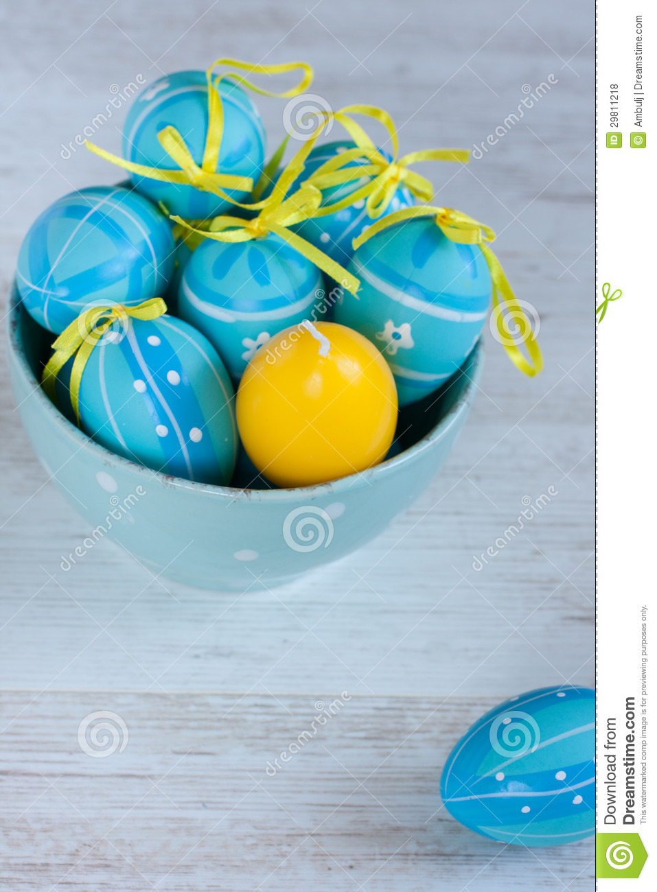 Blue and Yellow Easter Egg