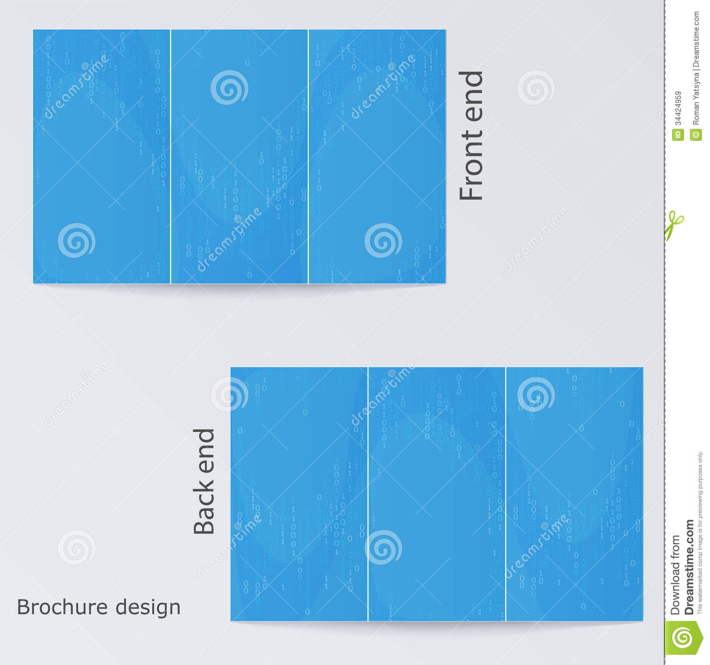 Blue Brochure Template Design. Royalty Free Stock Images - Image: 34424959