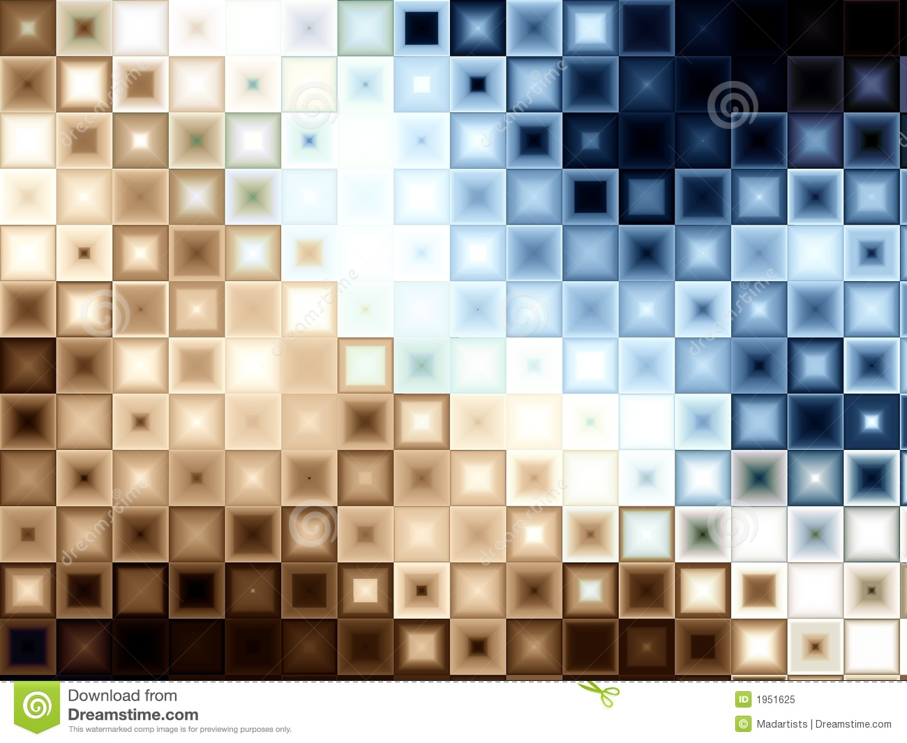 blue brown block tiles squares stock illustration illustration of