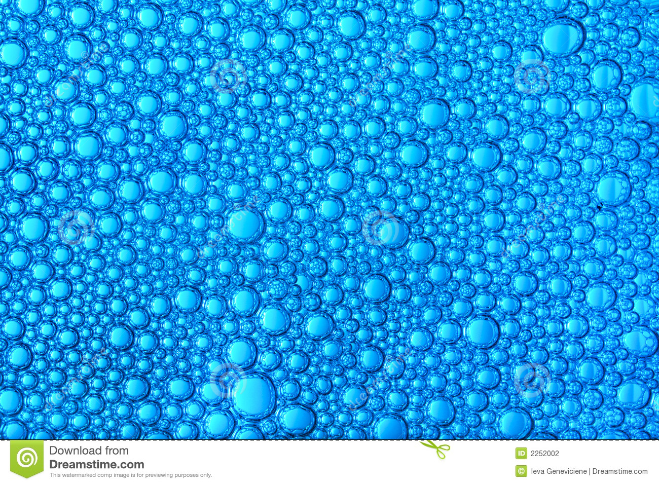 Background of small blue bubbles forming a beautiful ornament.