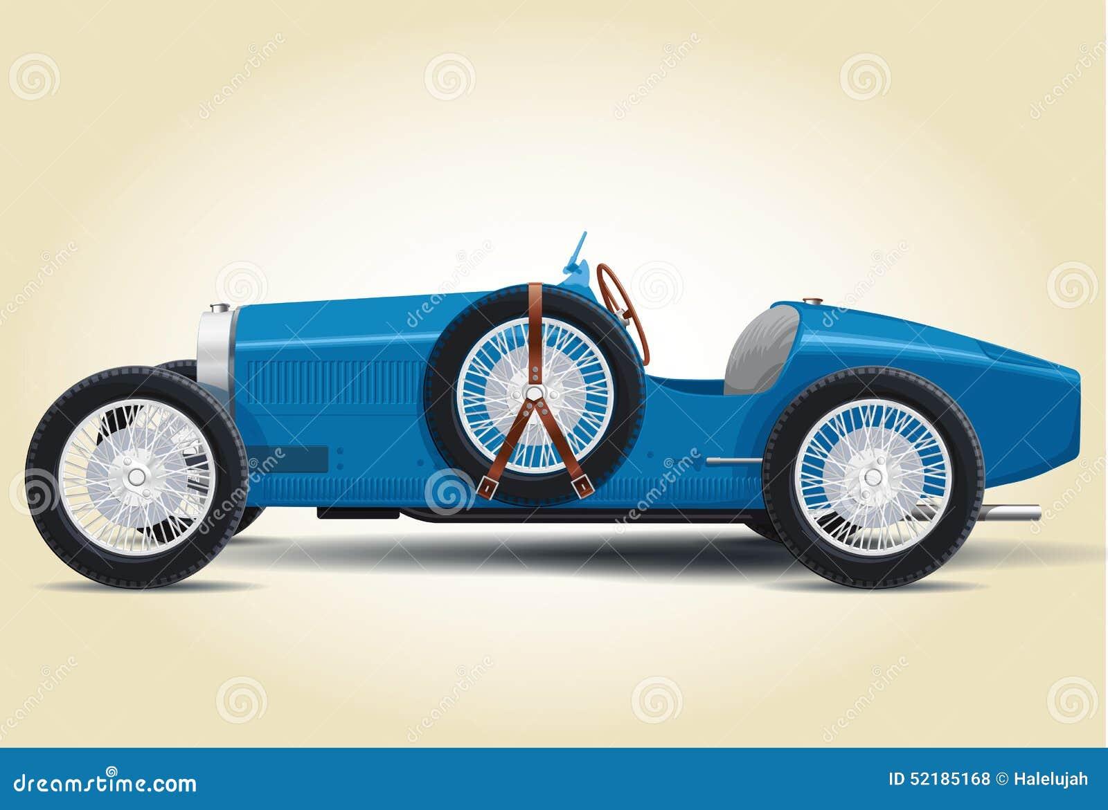 Blue Bugatti 37a Stock Illustration Illustration Of Bugatty 52185168