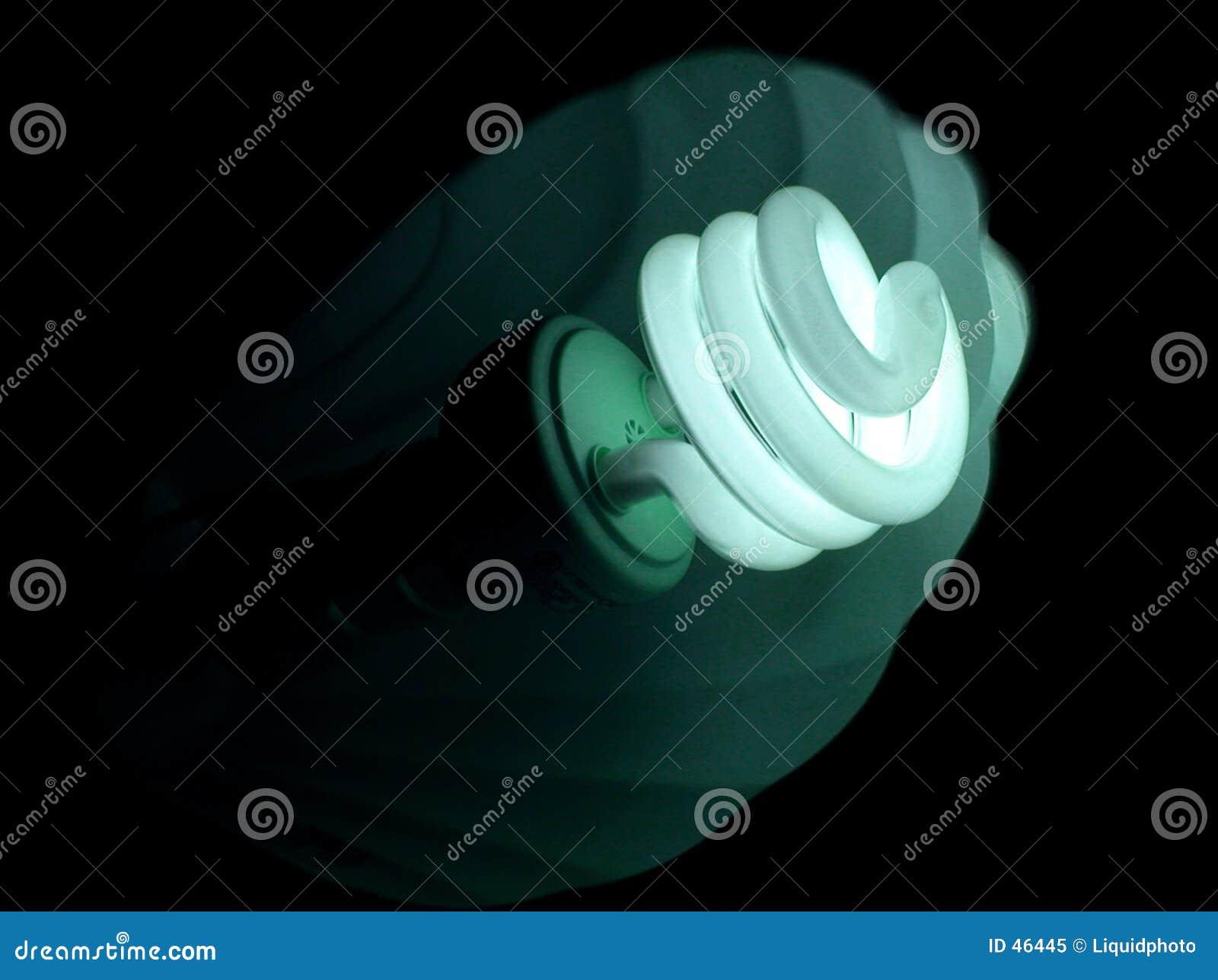 Blue bulb green light