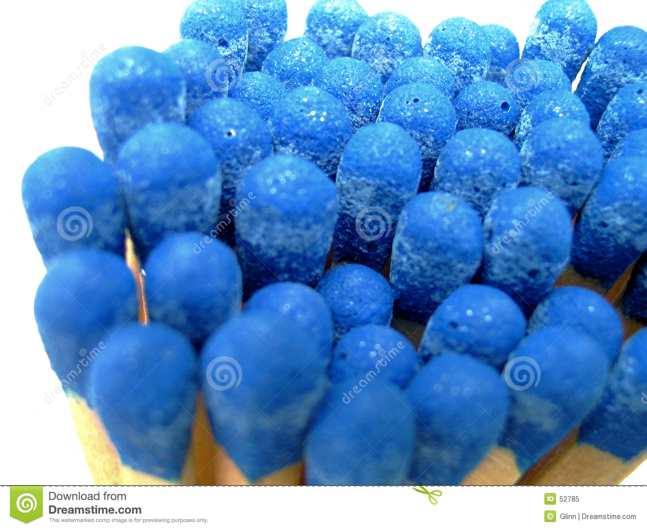 Blue bunch isolated matches