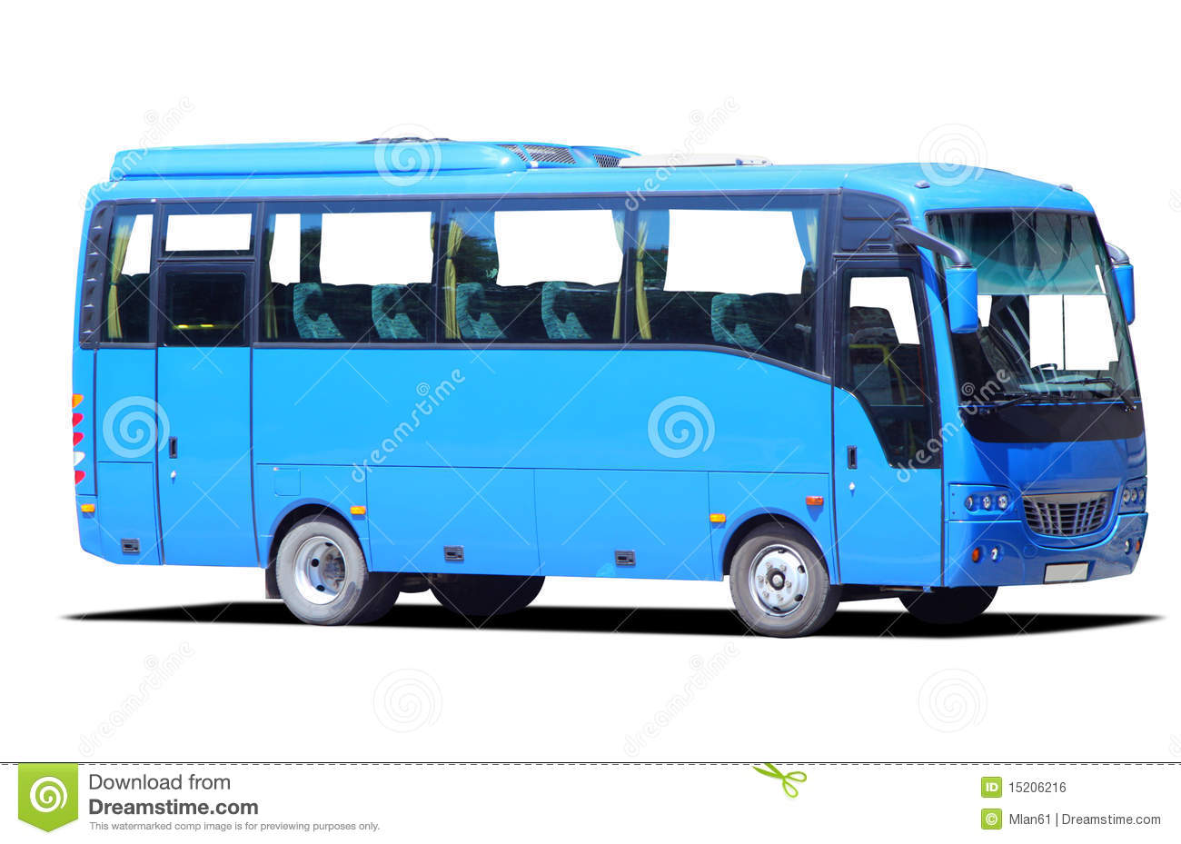 Blue Bus Royalty Free Stock Image - Image: 15206216
