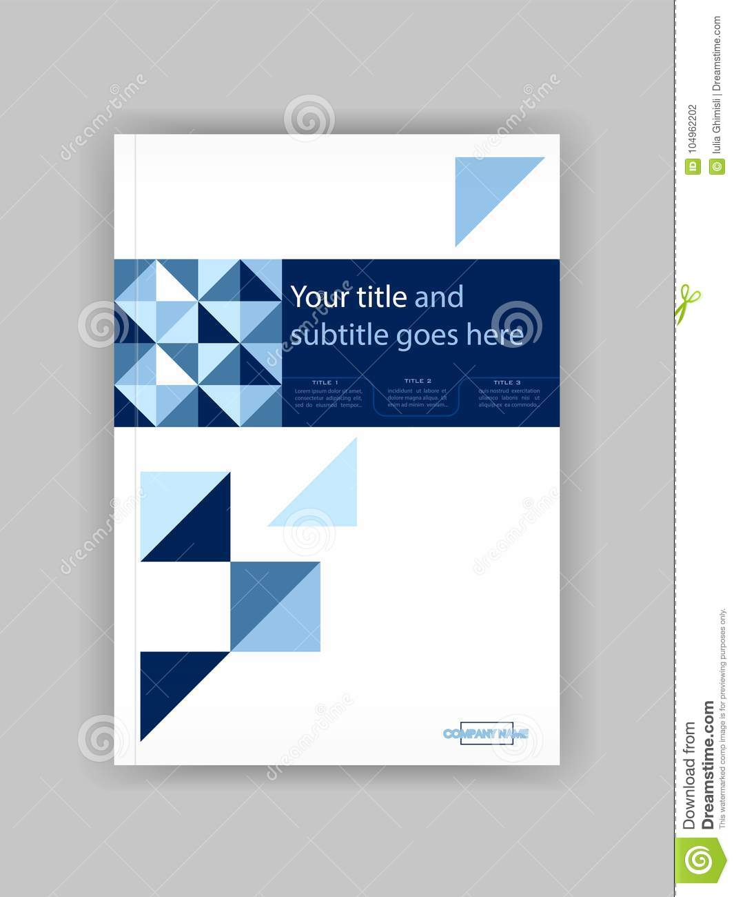 Business Book Cover Design Template : Blue a business book cover design template good for