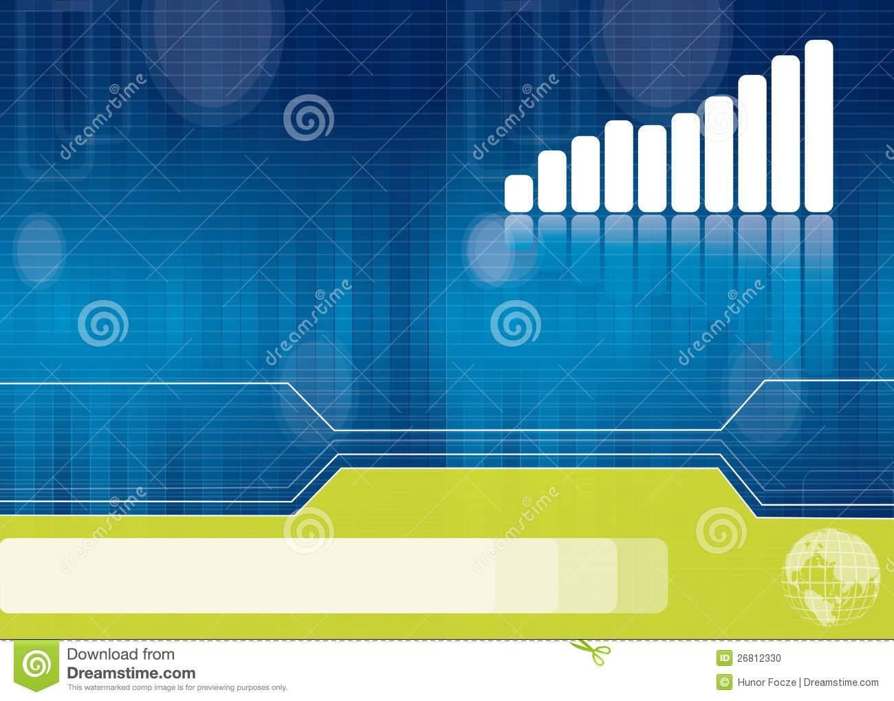blue business brochure background stock photo